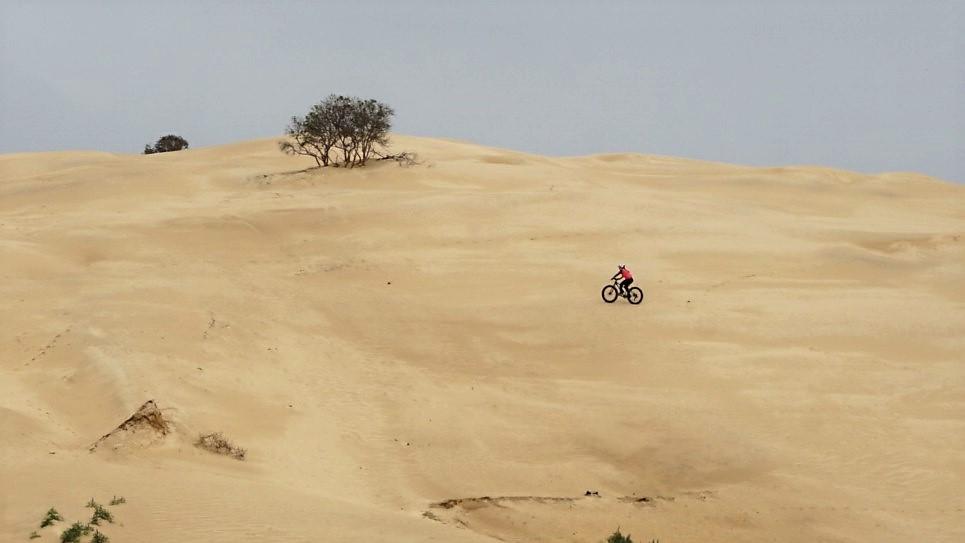 Fatibike na arvore das dunas de itapiruba