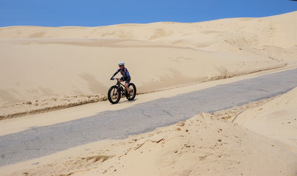 Estrada na duna de Itapiruba