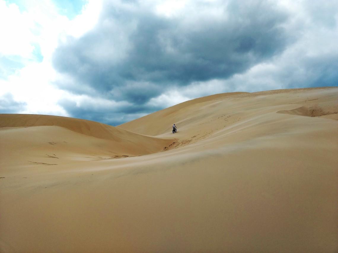 Lateral da duna mais alta