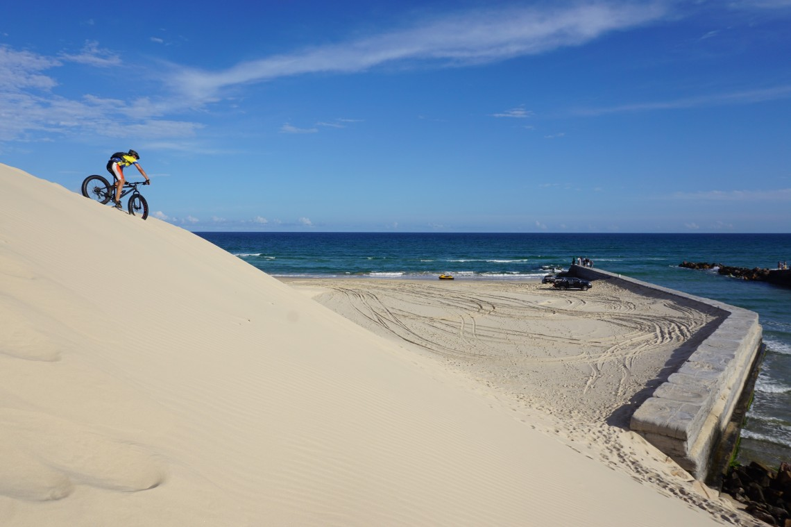 A duna e  a barra