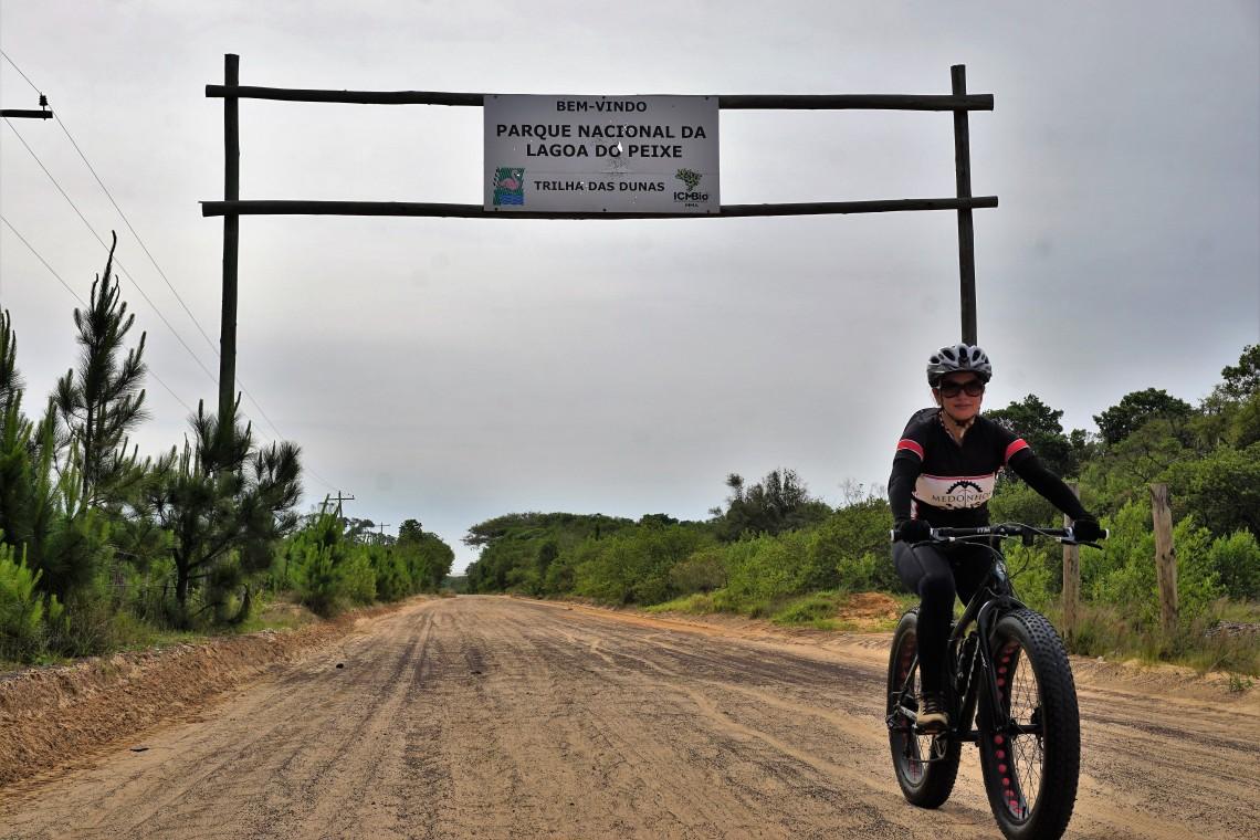 Portal da trilha das dunas do PN da Lagoa do Peixe